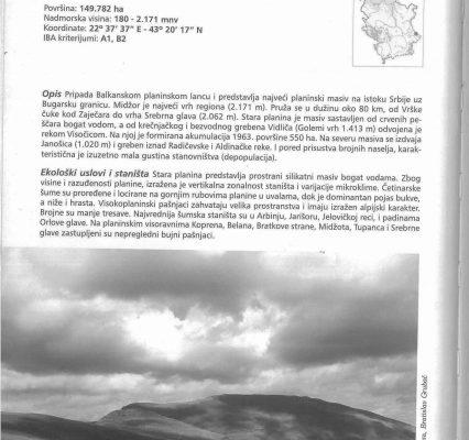 Stara planina – IBA područje